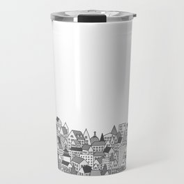 Paris (black and white version) Travel Mug