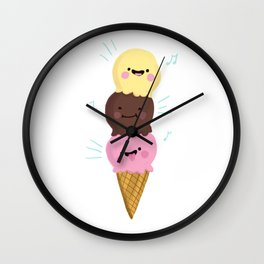 Ice Cream Lover Summer Vacation Beach Holiday Summer Vibes print Wall Clock