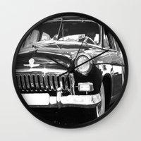 grand theft auto Wall Clocks featuring Black Auto by Regan's World