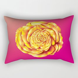 Golden Rose Rectangular Pillow