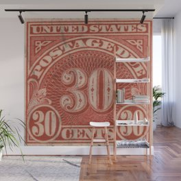 POSTAGE DUE THIRTY CENTS Wall Mural