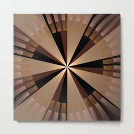 Golden beams, geometric pattern abstract Metal Print