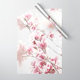 MAGNOLIA WHITE PINK Wrapping Paper