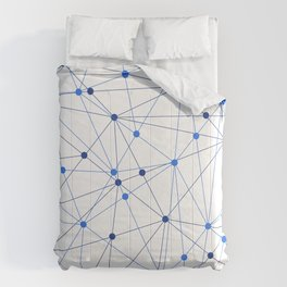Network background. Connection concept. Comforters