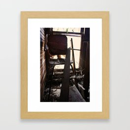 The Chair Abandoned Framed Art Print