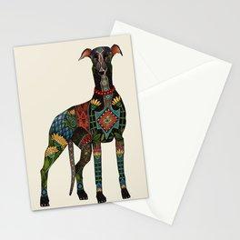 greyhound ivory Stationery Cards