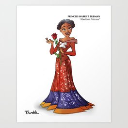 Princess Harriet Tubman (Trumble Cartoon) Art Print