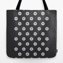 Scandinavian / Dark Grey + White Tote Bag