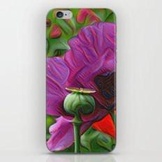 DeepDream Flowers, Poppy, DeepDream style iPhone Skin