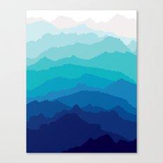 Blue Mist Mountains Canvas Print