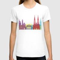 vienna T-shirts featuring Vienna skyline pop by Paulrommer