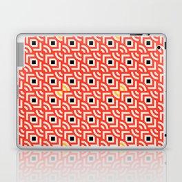 Round Pegs Square Pegs Red-Orange Laptop & iPad Skin