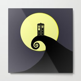 Tardis Nightmare Metal Print