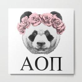 Girl Nerd Panda / AOII Metal Print