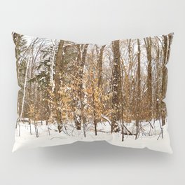 Maple Beech Forest in the Winter Pillow Sham