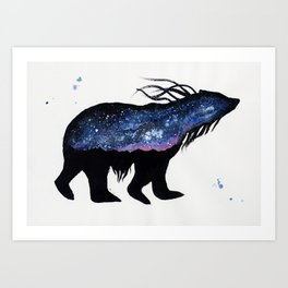 Milky Way Bear Art Print