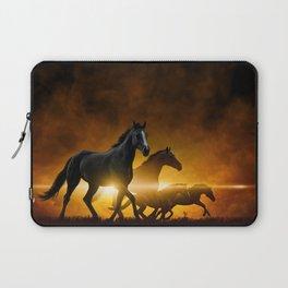 Wild Black Horses Laptop Sleeve