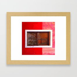 Passion romanticized Framed Art Print