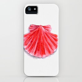 Red Clam Shell iPhone Case