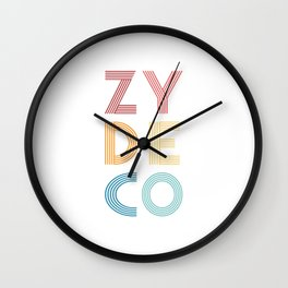 Zydeco  TShirt Music Shirt Instrument Gift Idea Wall Clock