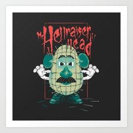 Mr. Hellraiser Head Art Print