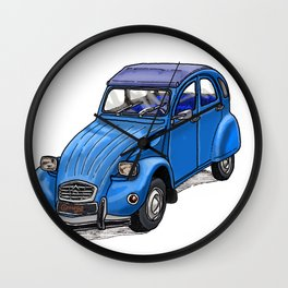 Blue 2CV Wall Clock