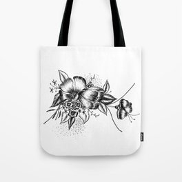 Graphic Flower Ink Art Tote Bag