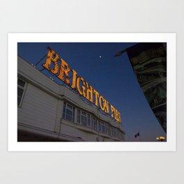 Brighton Pier at Night Art Print
