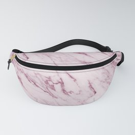 Mauve Pink Marble Fanny Pack