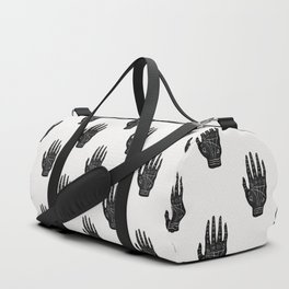 Palm Reading Chart - Black on White Duffle Bag
