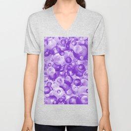 Purple Grape Candy Bubble Pattern Unisex V-Neck