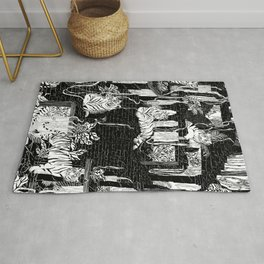 Labyrinth of the Tiger King Rug