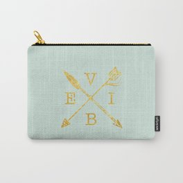VIBE - Feather Arrow Cross - GOLD Carry-All Pouch