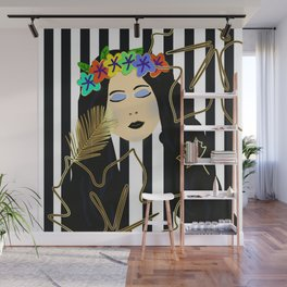 Fall Beauty Girl Wall Mural