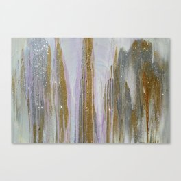 Gold and Silver Deluge Canvas Print