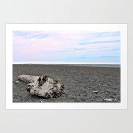 Black Sand Color Sky Art Print