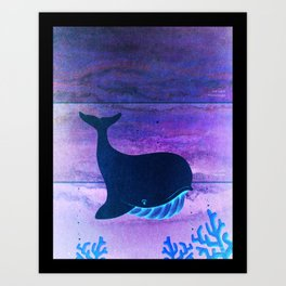 The Whale in the Paint Chip Art Print