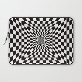 Checkered Optical Illusion Laptop Sleeve