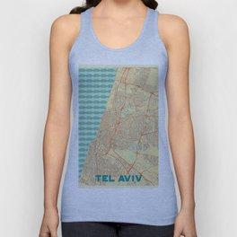 Tel Aviv Map Retro Unisex Tank Top