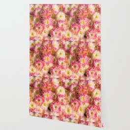 Pink and Yellow Flower Pattern (Color) Wallpaper