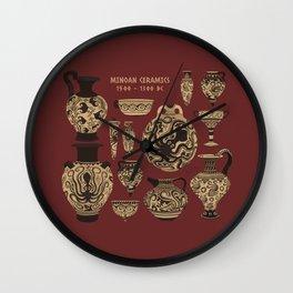 Late Minoan Ceramics - Ancient Pottery Series Wall Clock