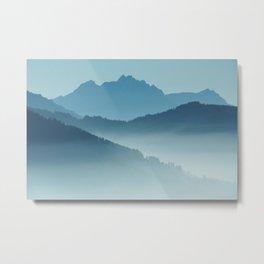 misty mountains Metal Print