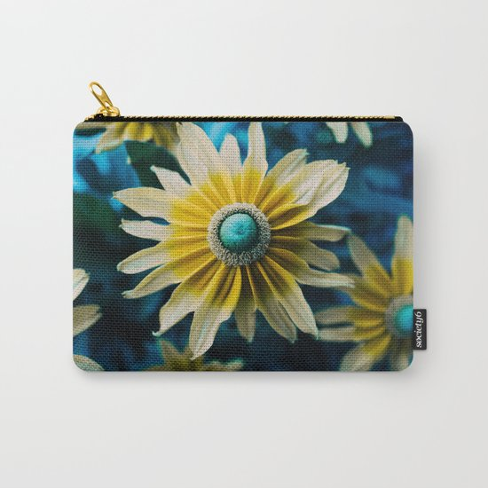 yellow and turquoise Carry-All Pouch