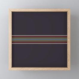 Multicolor Fine Lines Framed Mini Art Print