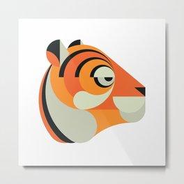 Minimalistic wildlife 15 –Tiger Metal Print