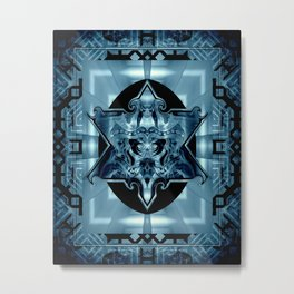 Blue Star Law* Metal Print