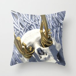 Tear-Stained Dreamer Reaches for the Skies Throw Pillow