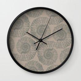 ammonite I pattern Wall Clock
