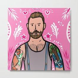 Beard Boy: Mr. Kid Metal Print