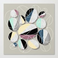 Canvas Prints featuring Stones and Outlines by Susana Paz